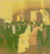 Jean Béraud, Altercation in the corridors of the opera - 1889